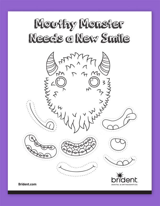 Brident Dental Kid's Activity Sheet - Mouthy Monster Fall 2019