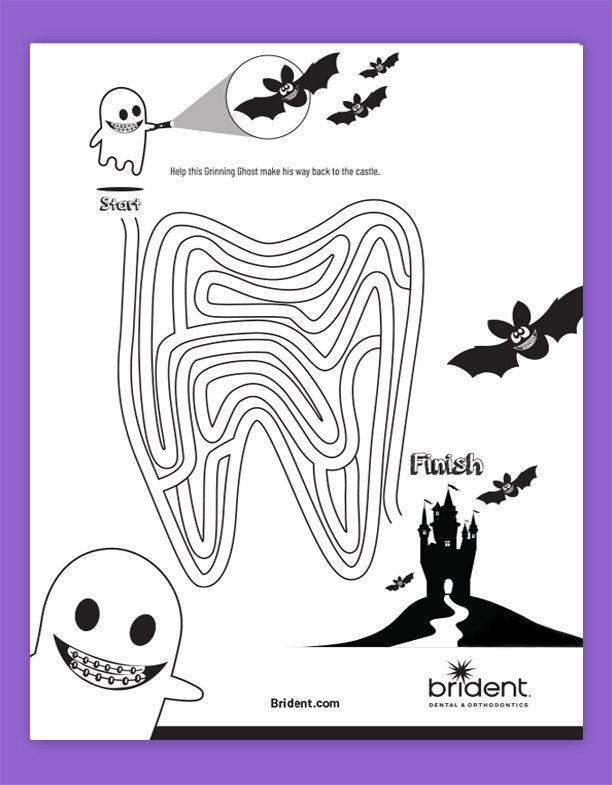 Brident Dental Kid's Activity Sheet - Maze Fall 2019